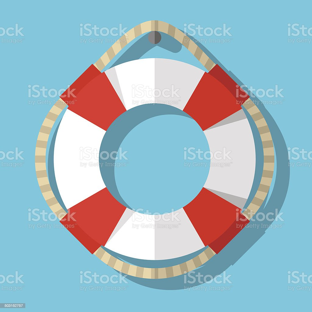 Life belt vector art illustration