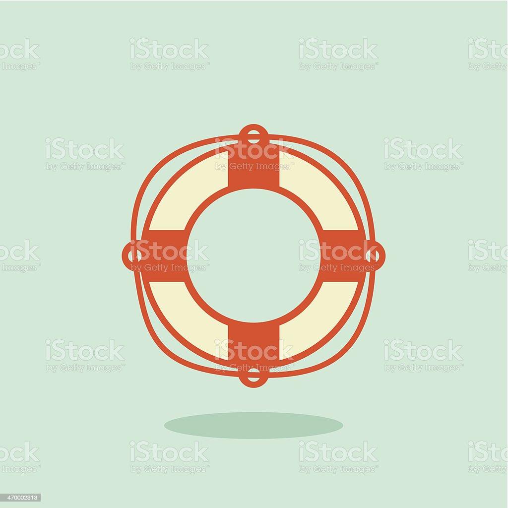 Life buoy icon royalty-free stock vector art