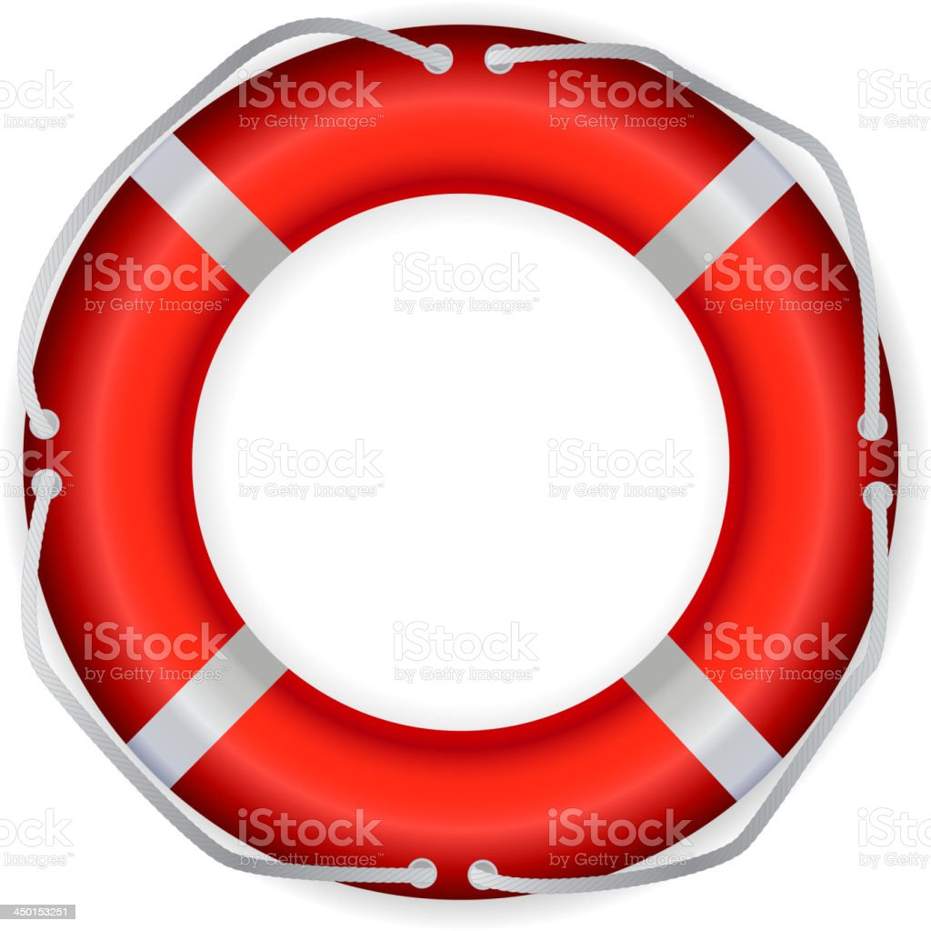 Life Buoy, Isolated On White Background, Vector Illustration royalty-free stock vector art
