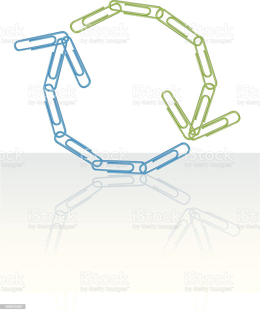 Life Cycle, Cyclical Concept - Paperclip Arrow royalty-free stock vector art