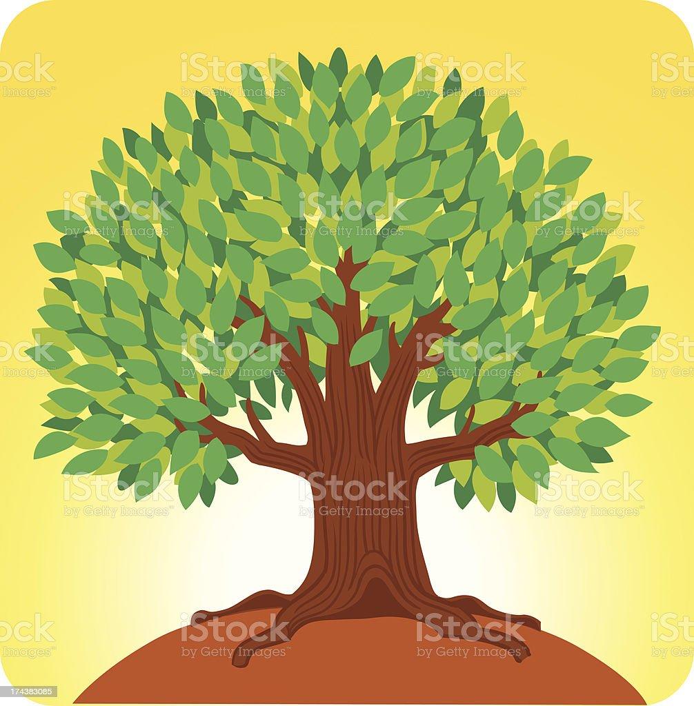 Life Giving Tree royalty-free stock vector art