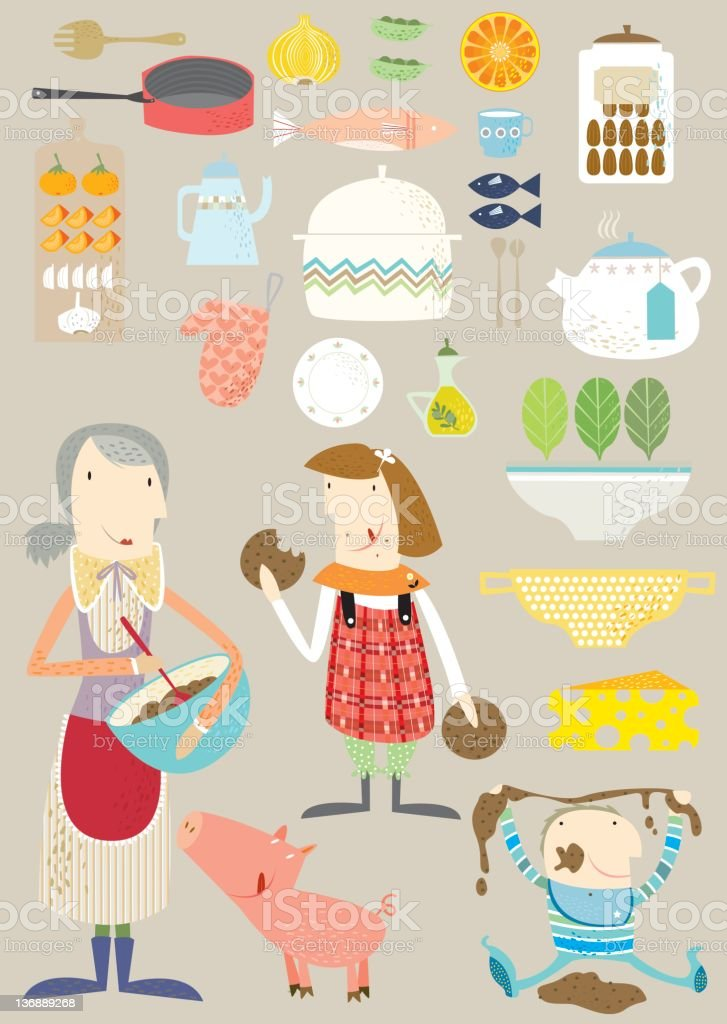 Life in the kitchen royalty-free stock photo
