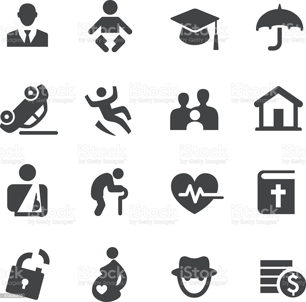 Life Insurance Icons - Acme Series vector art illustration