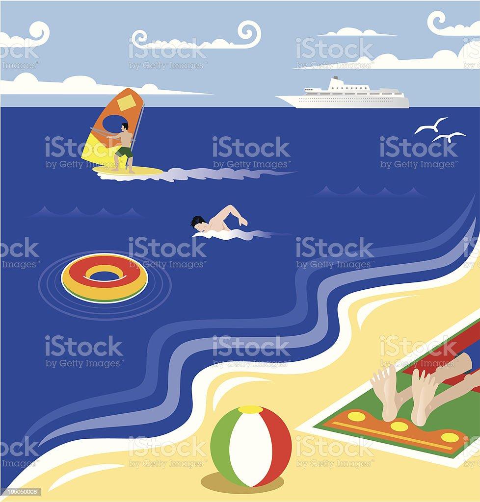 Life is a Beach vector art illustration