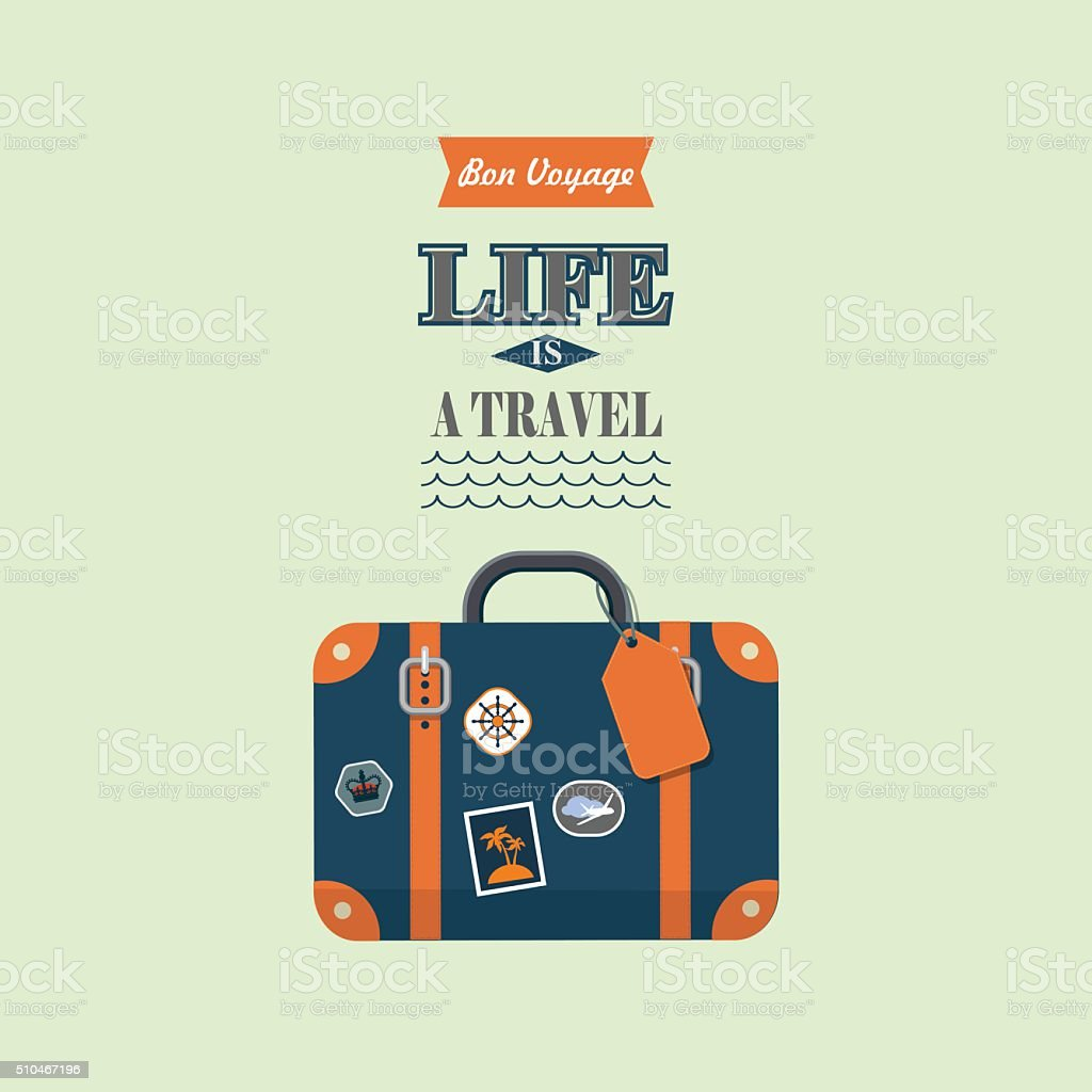 life is a travel vector poster vector art illustration