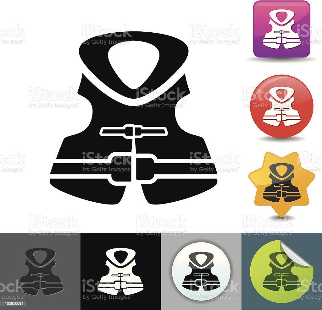 Life jacket icon | solicosi series royalty-free stock vector art