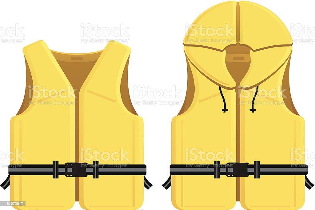 Life Jackets vector art illustration