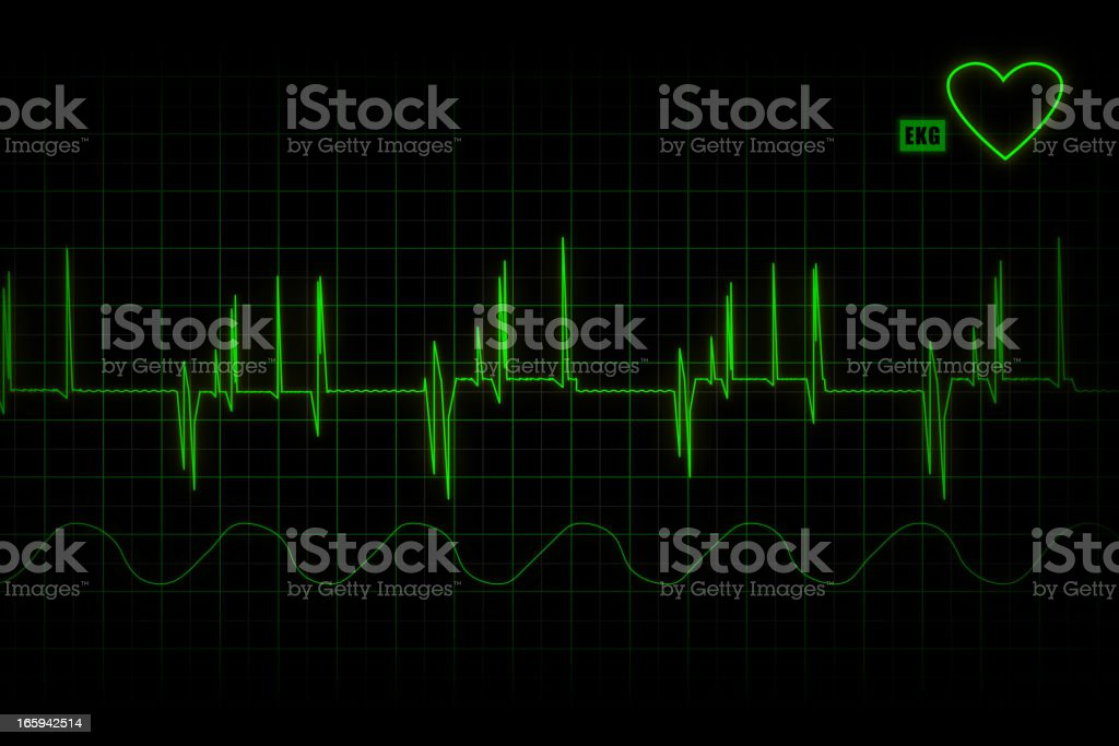 life line - cardiogram royalty-free stock vector art