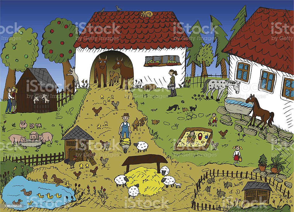 Life on the farm royalty-free stock vector art