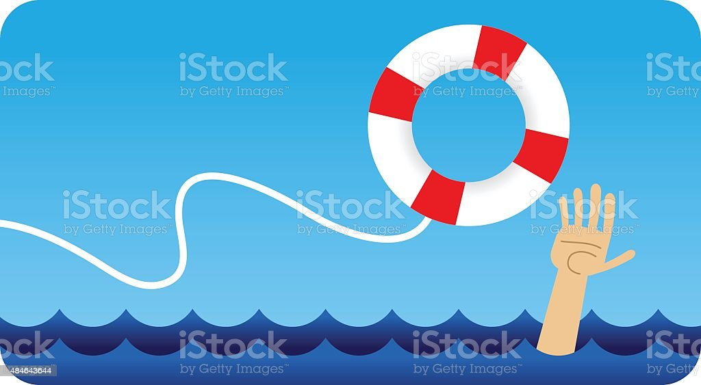 Life Preserver vector art illustration