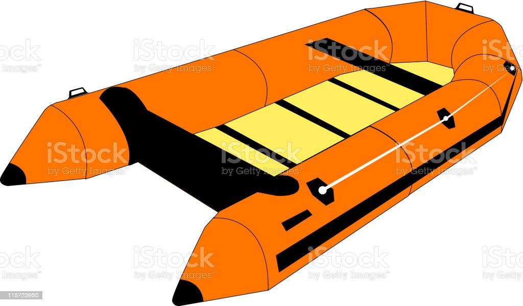 life raft royalty-free stock vector art
