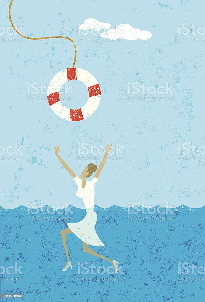 life saver vector art illustration