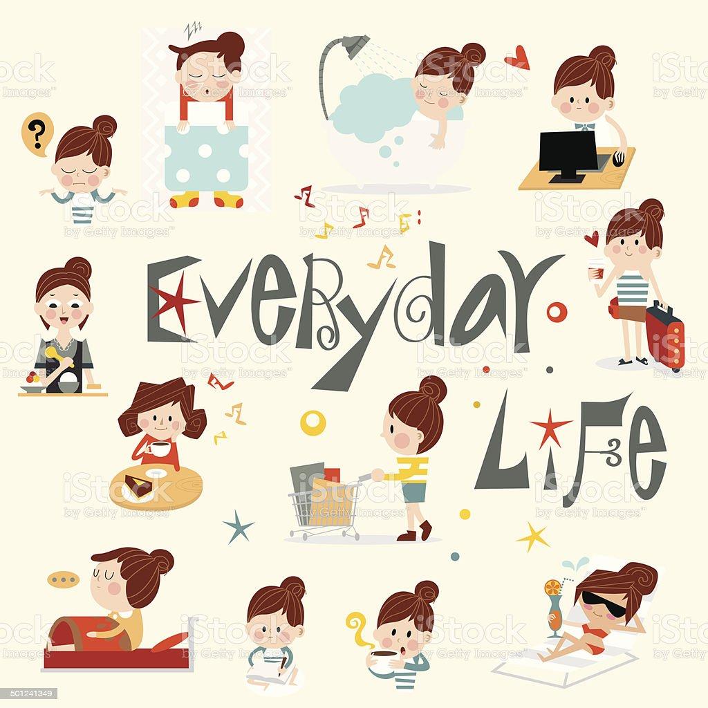 Life story B vector art illustration