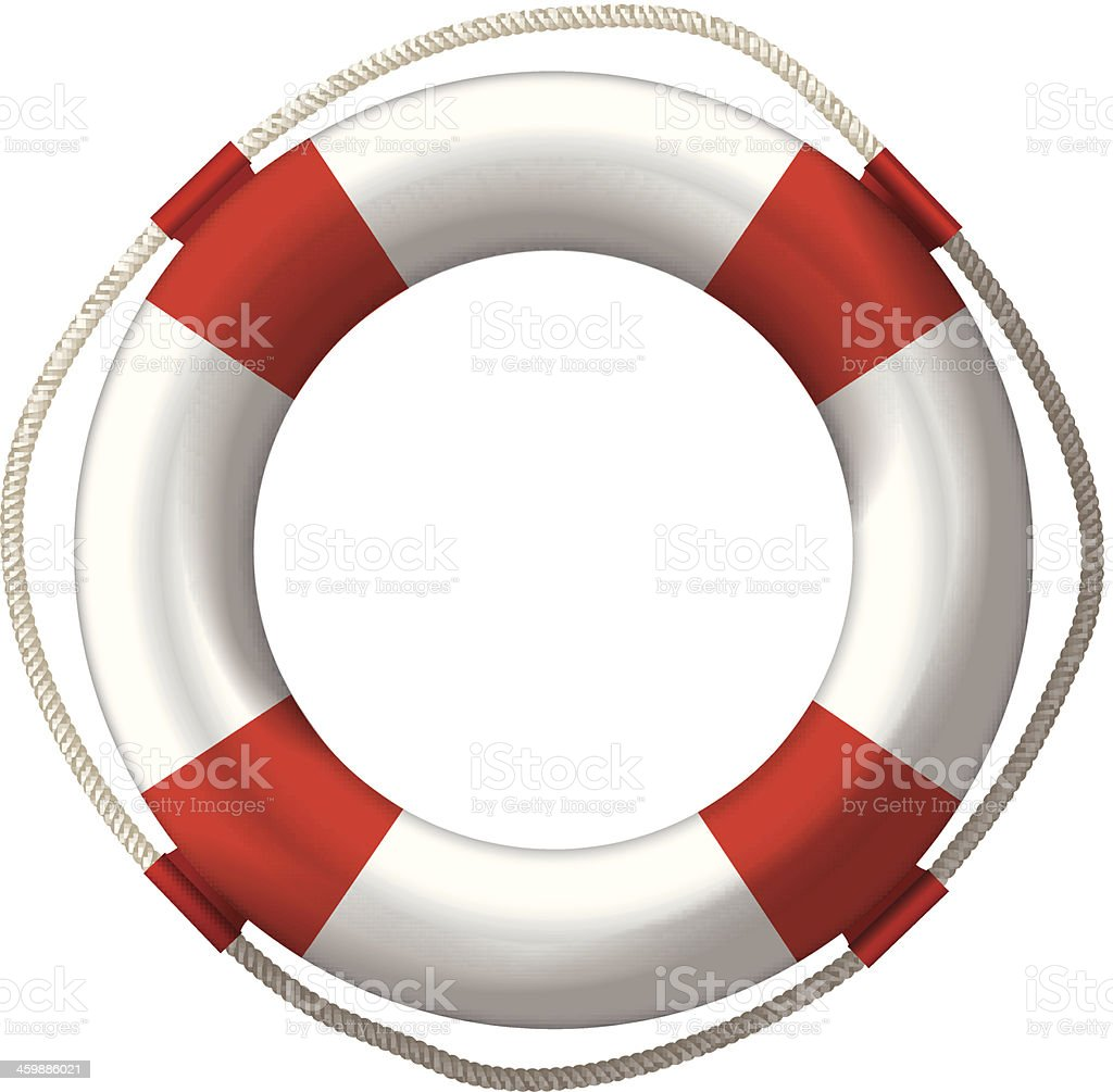lifebelt lifebuoy vector art illustration