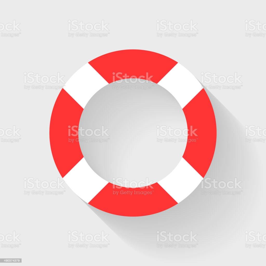 Lifebuoy flat icon. royalty-free stock vector art