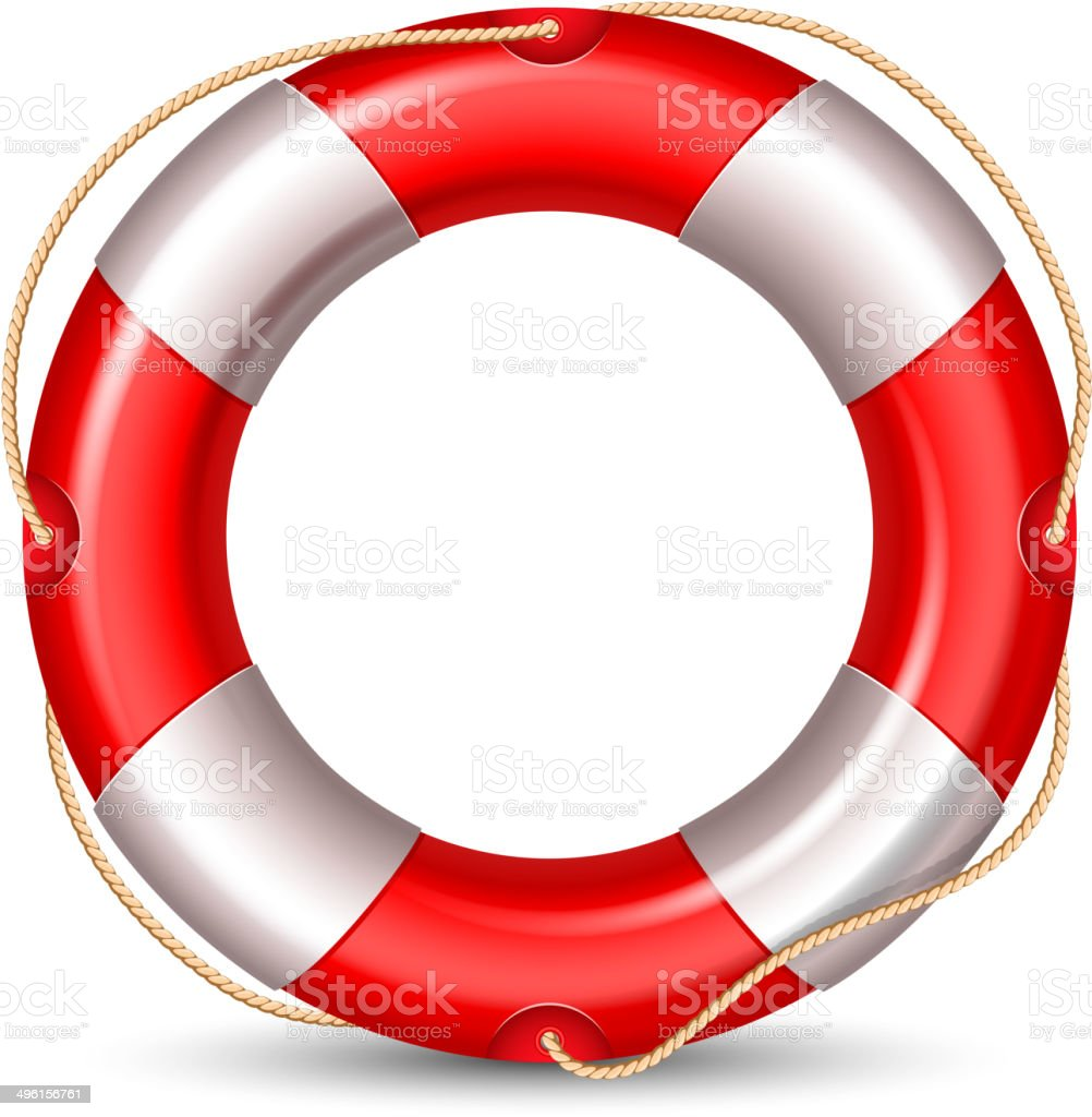 Lifebuoy vector art illustration