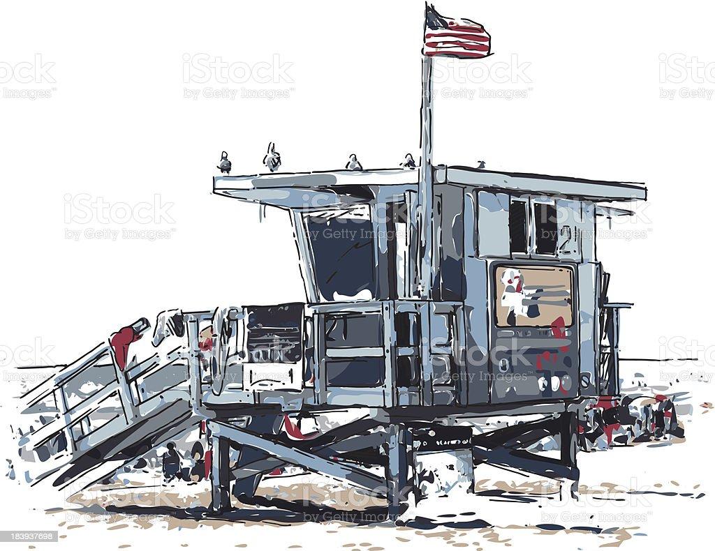 lifeguard vector art illustration