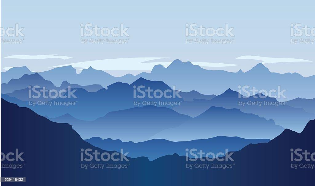 Lifeless vector landscape vector art illustration