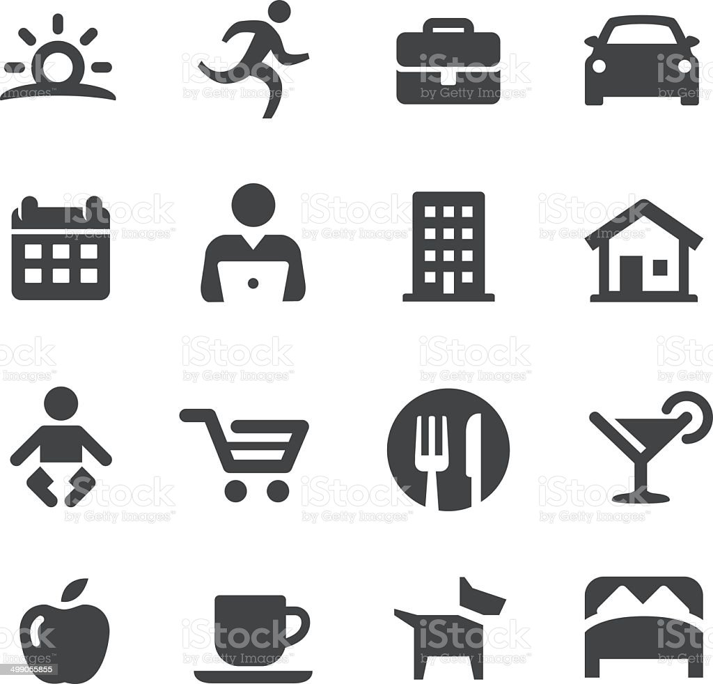 Lifestyle - Daily Life Icons - Acme Series vector art illustration