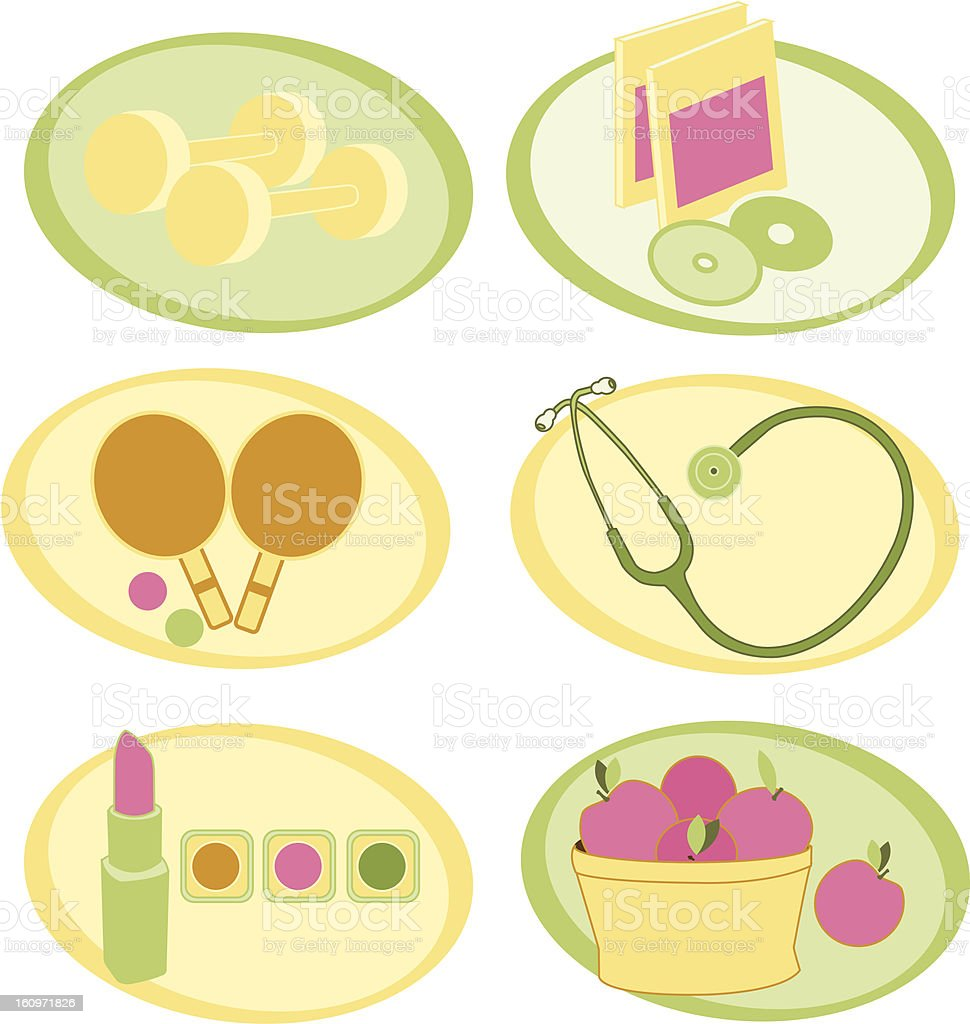lifestyle icons royalty-free stock vector art