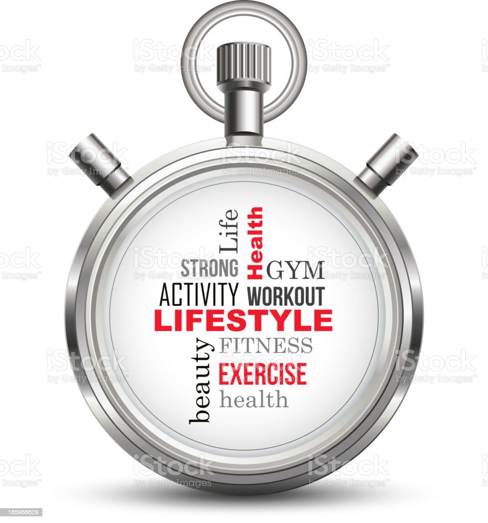 Lifestyle stopwatch concept royalty-free stock vector art