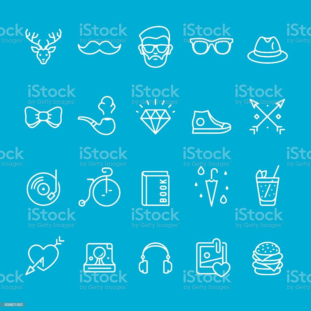Lifestyles and City Life icons collection vector art illustration