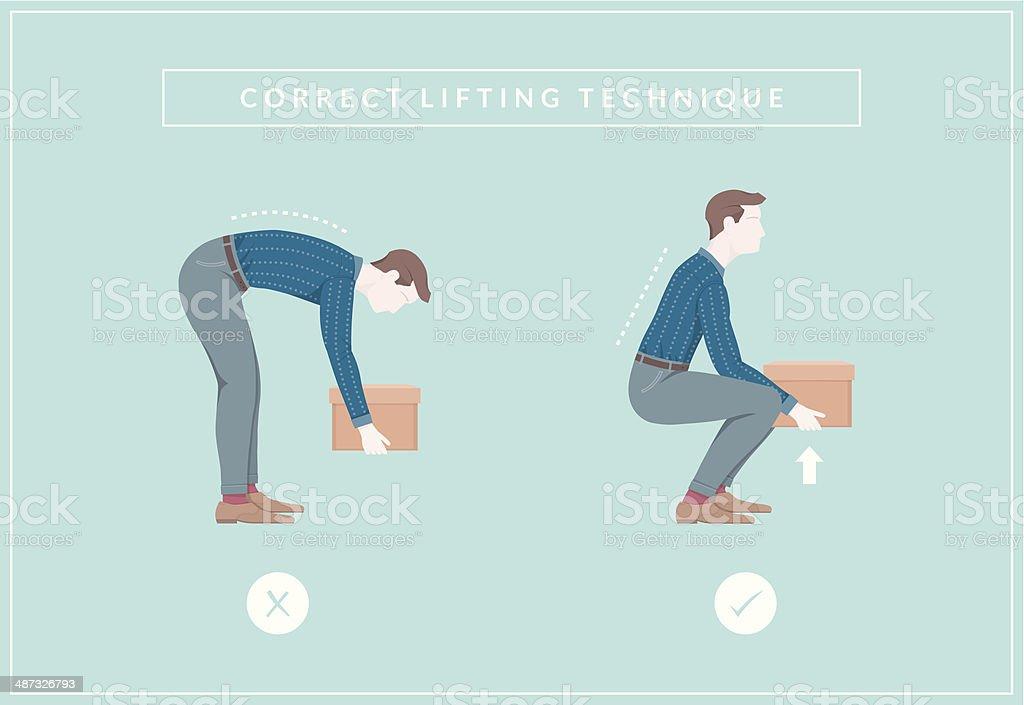 Lifting vector art illustration