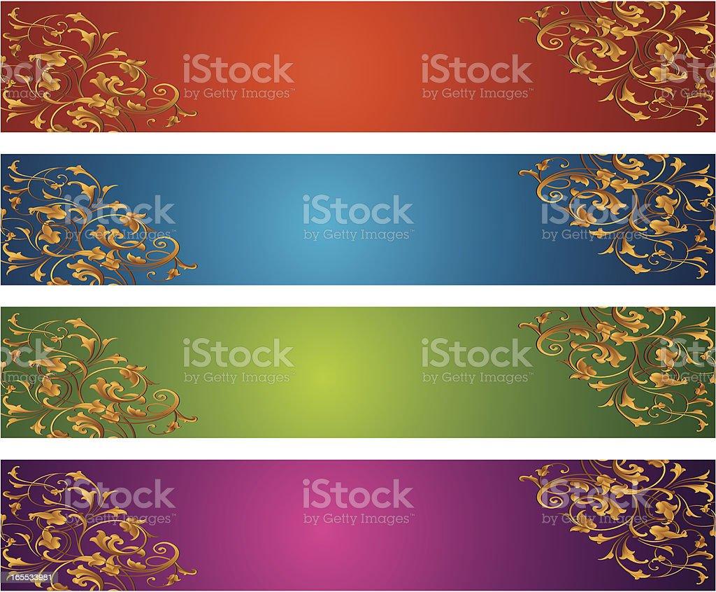 Light Arabesque Banner Set royalty-free stock vector art
