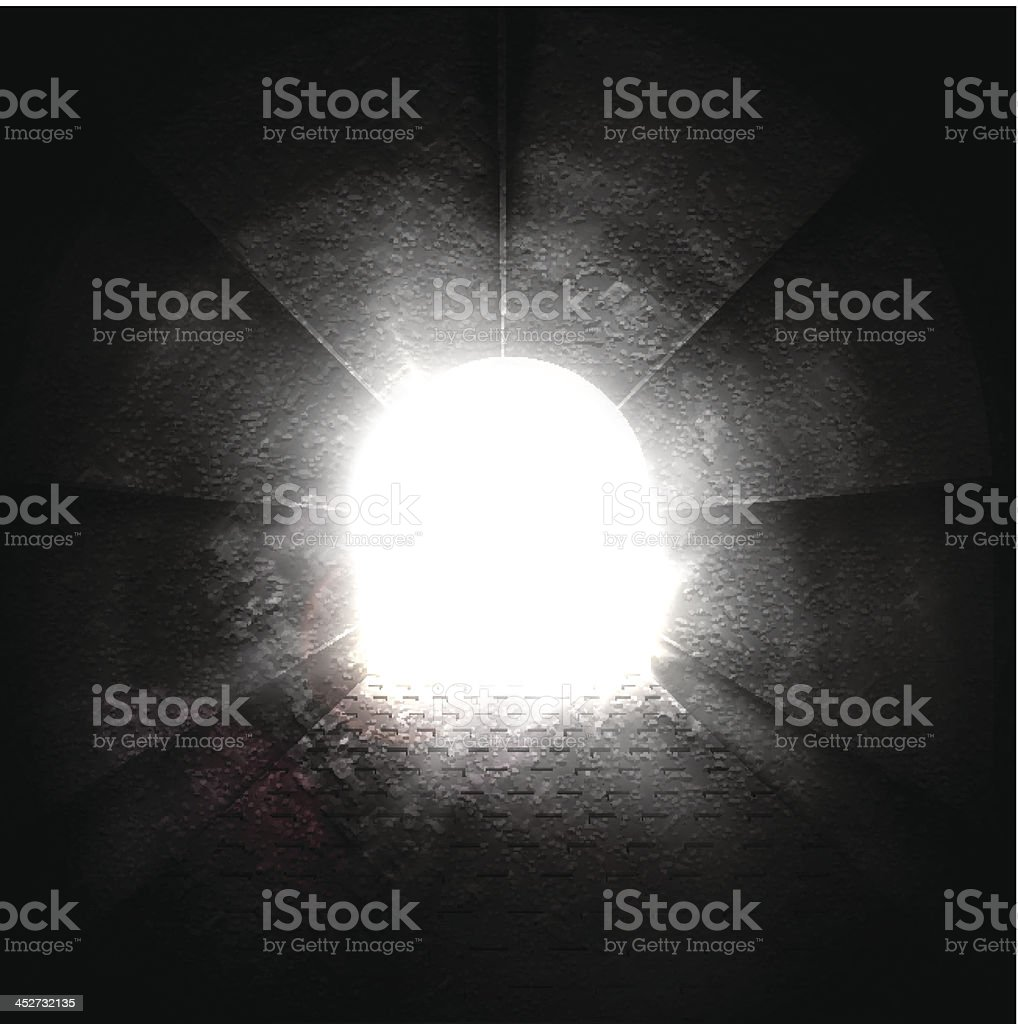 Light at end of tunnel royalty-free stock vector art