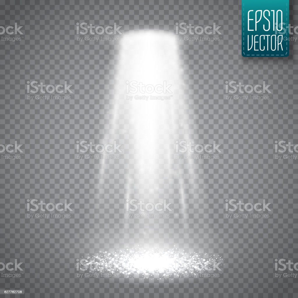 UFO light beam isolated on transparnt background. Vector vector art illustration