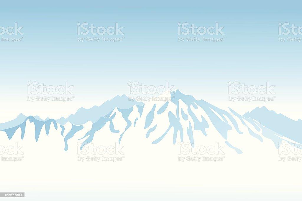 Light blue mountain view clip art royalty-free stock vector art