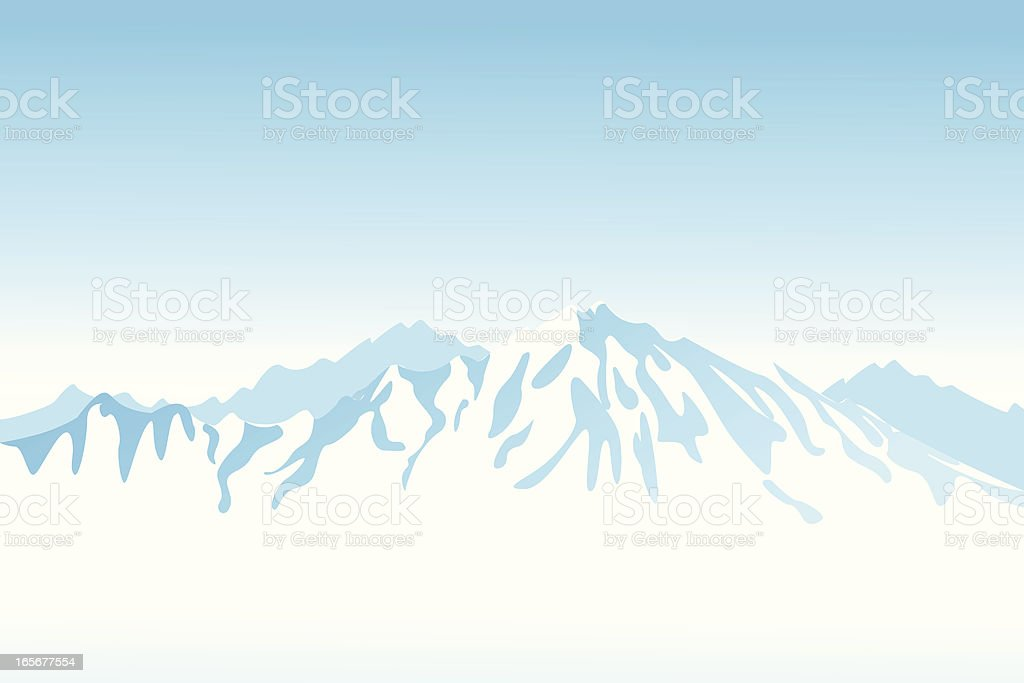 Light blue mountain view clip art vector art illustration