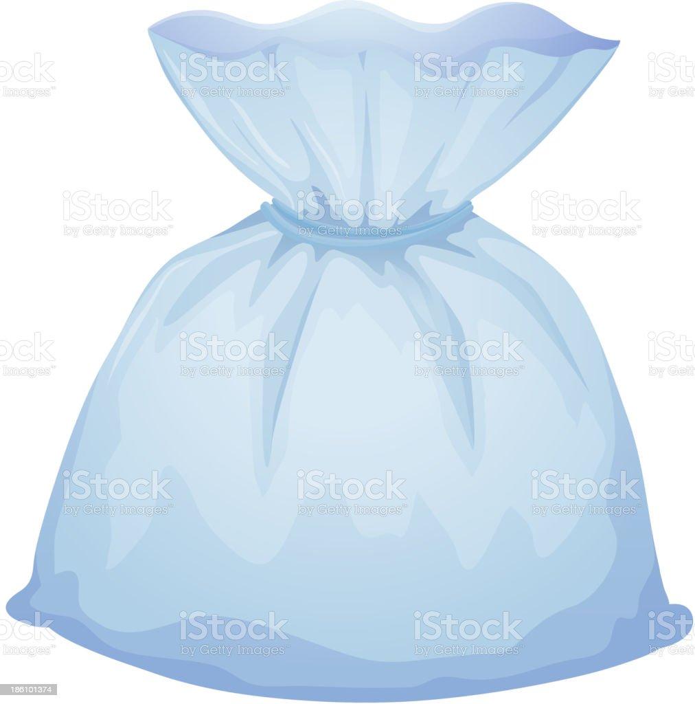 light blue pouch bag royalty-free stock vector art