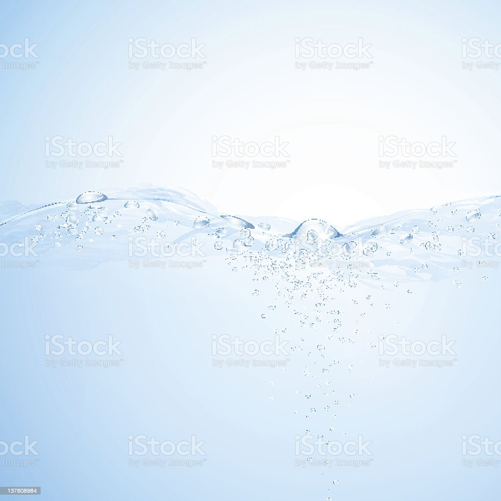 Light blue water background royalty-free stock vector art