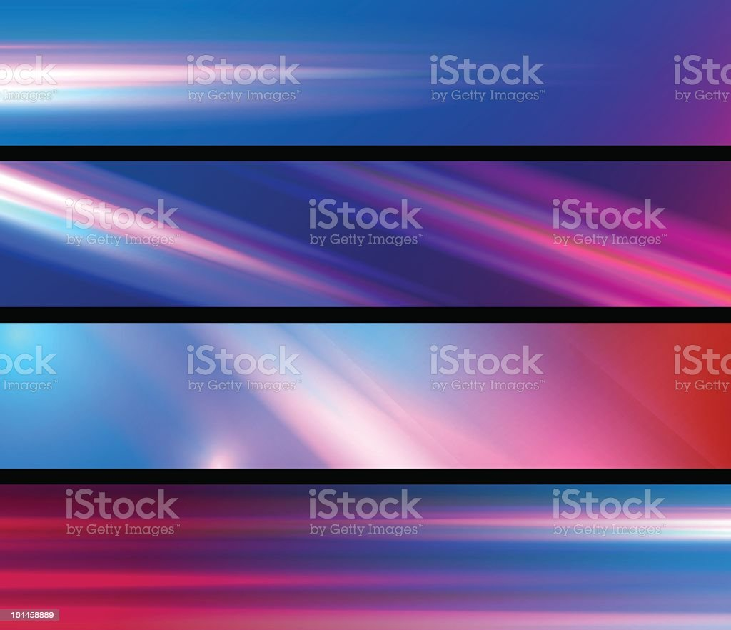 light blur abstract banners royalty-free stock vector art
