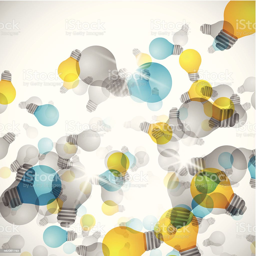 Light bulb abstract background royalty-free stock vector art