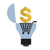 light bulb and money sign