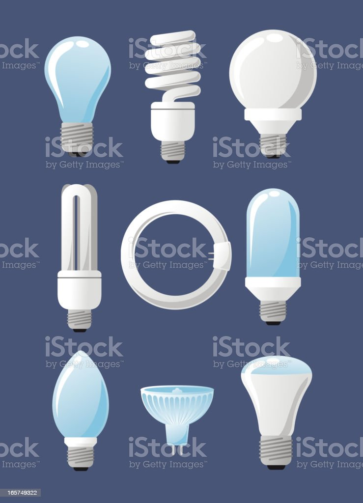 Light bulb Capsules High Lumen Globes Reflector Specialty Candle vector art illustration