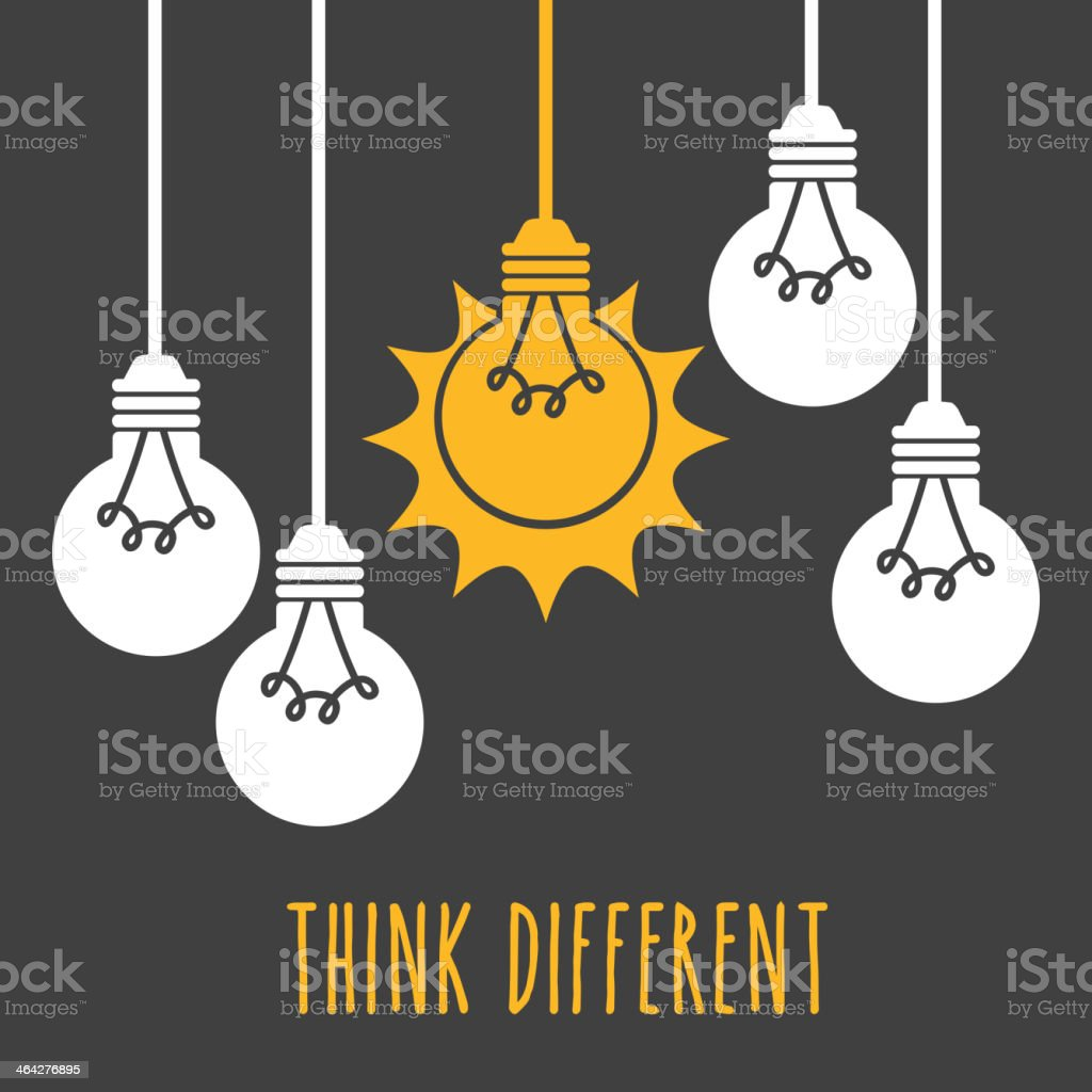 Light Bulb Design, Vector illustration vector art illustration