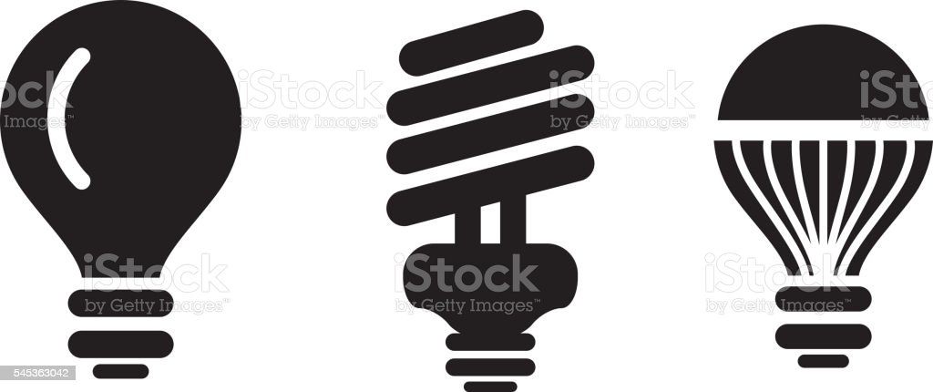 Light Bulb Efficiency vector art illustration