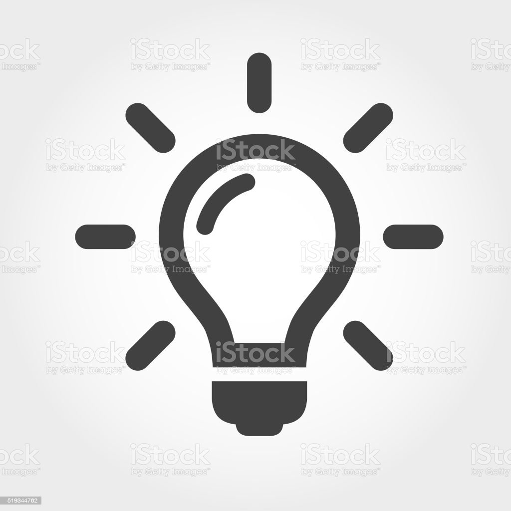 Light Bulb Icon - Iconic Series vector art illustration