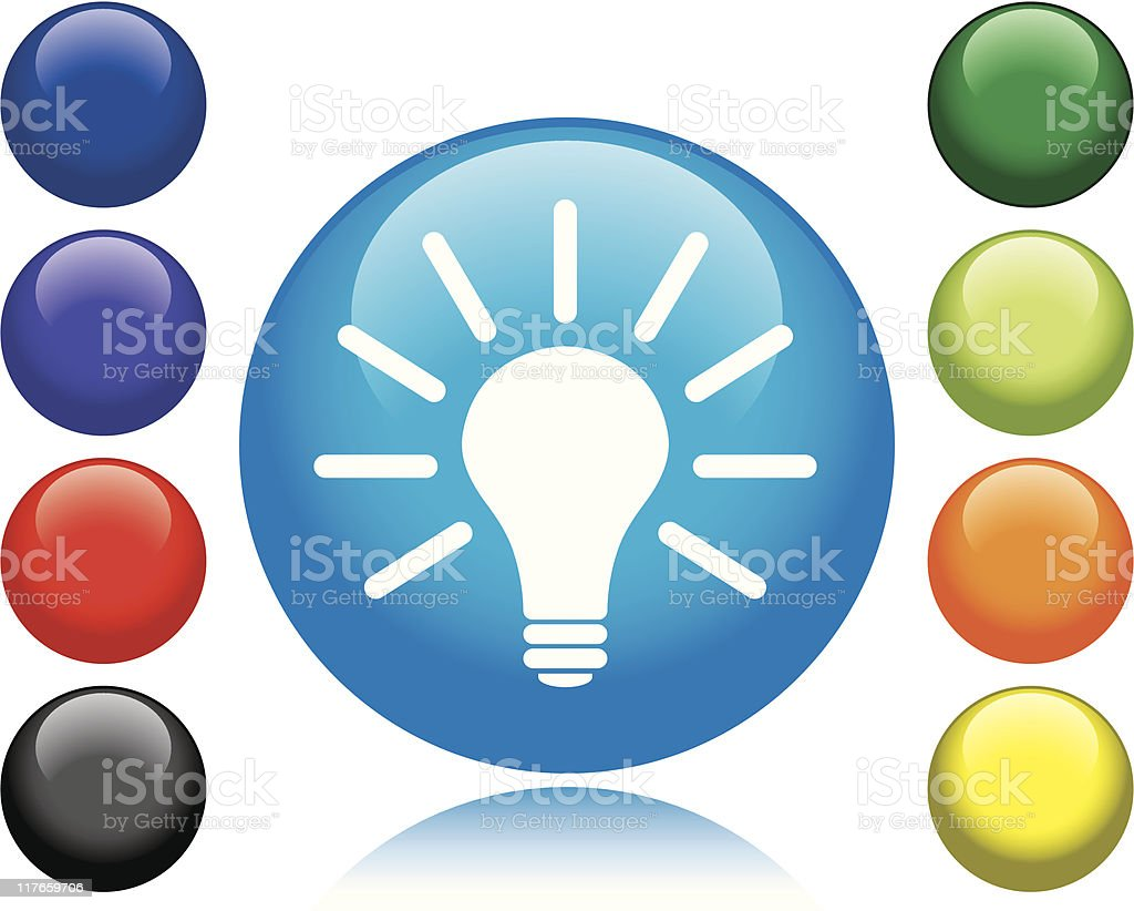 Light Bulb Icon royalty-free stock vector art