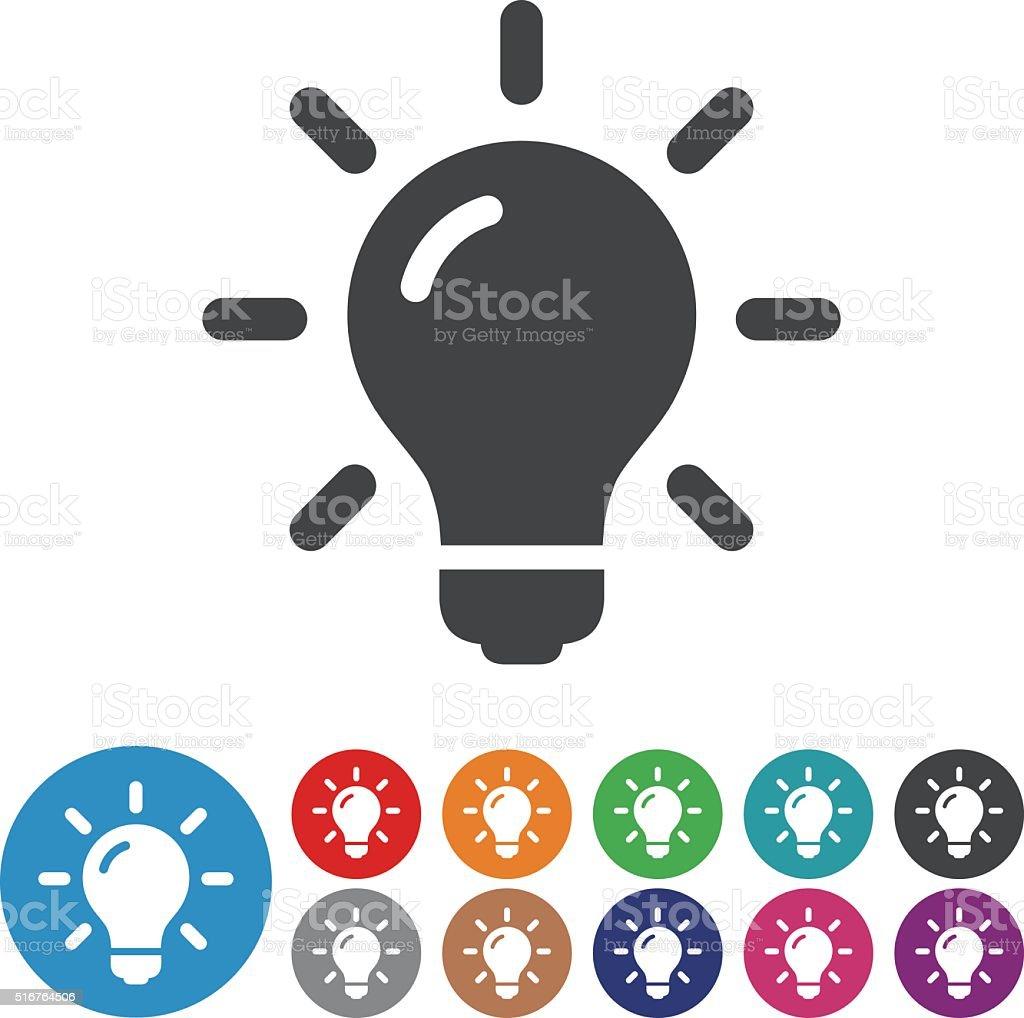 Light Bulb Icons - Graphic Icon Series vector art illustration