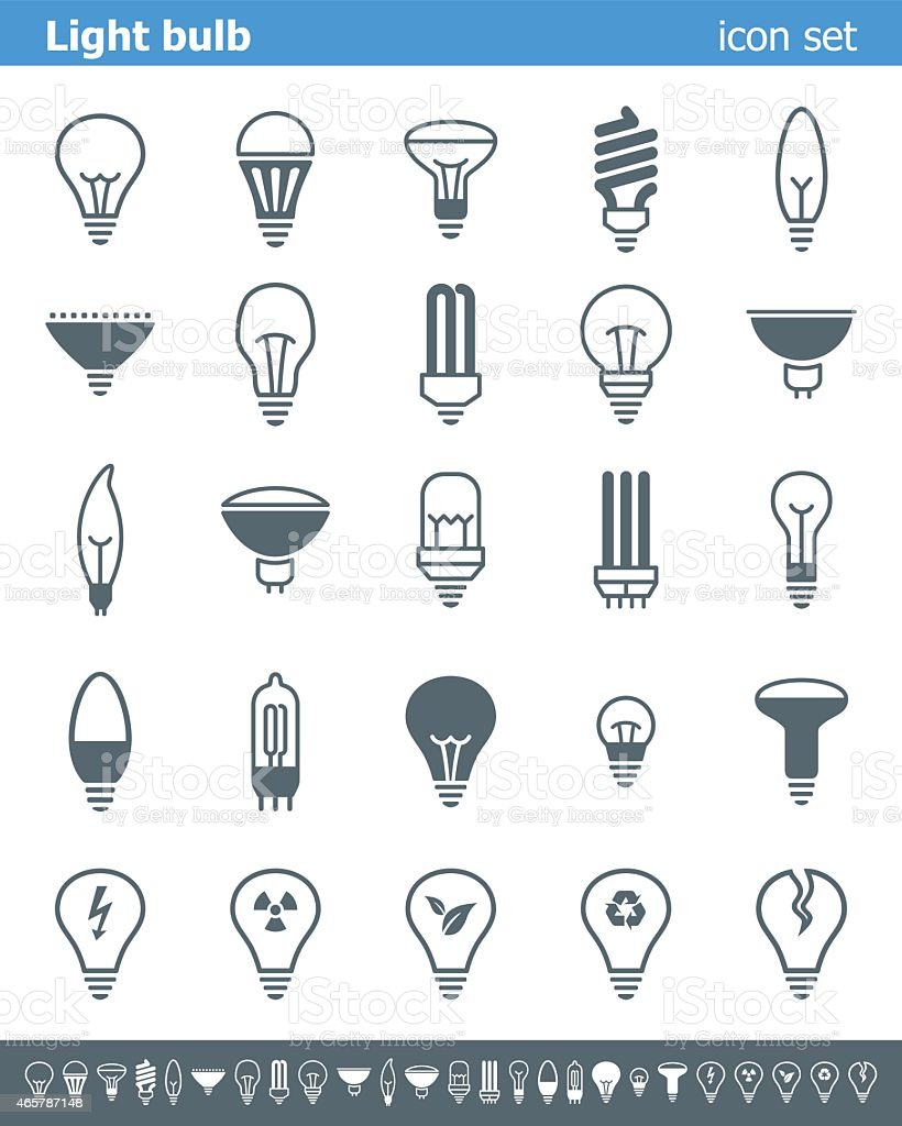 Light bulb icons - Illustration vector art illustration