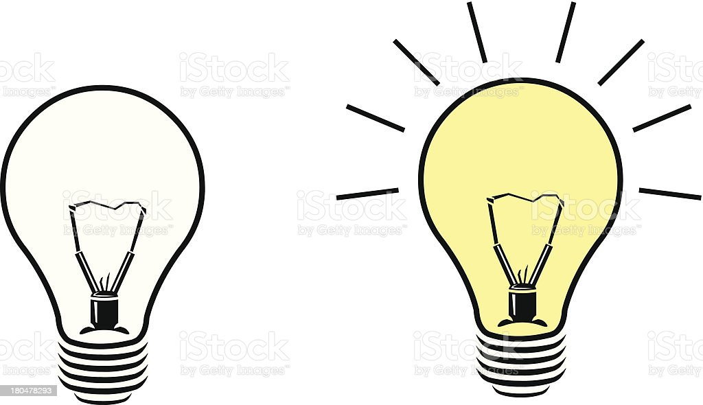 Light bulb Idea and Inspiration Icon royalty-free stock vector art
