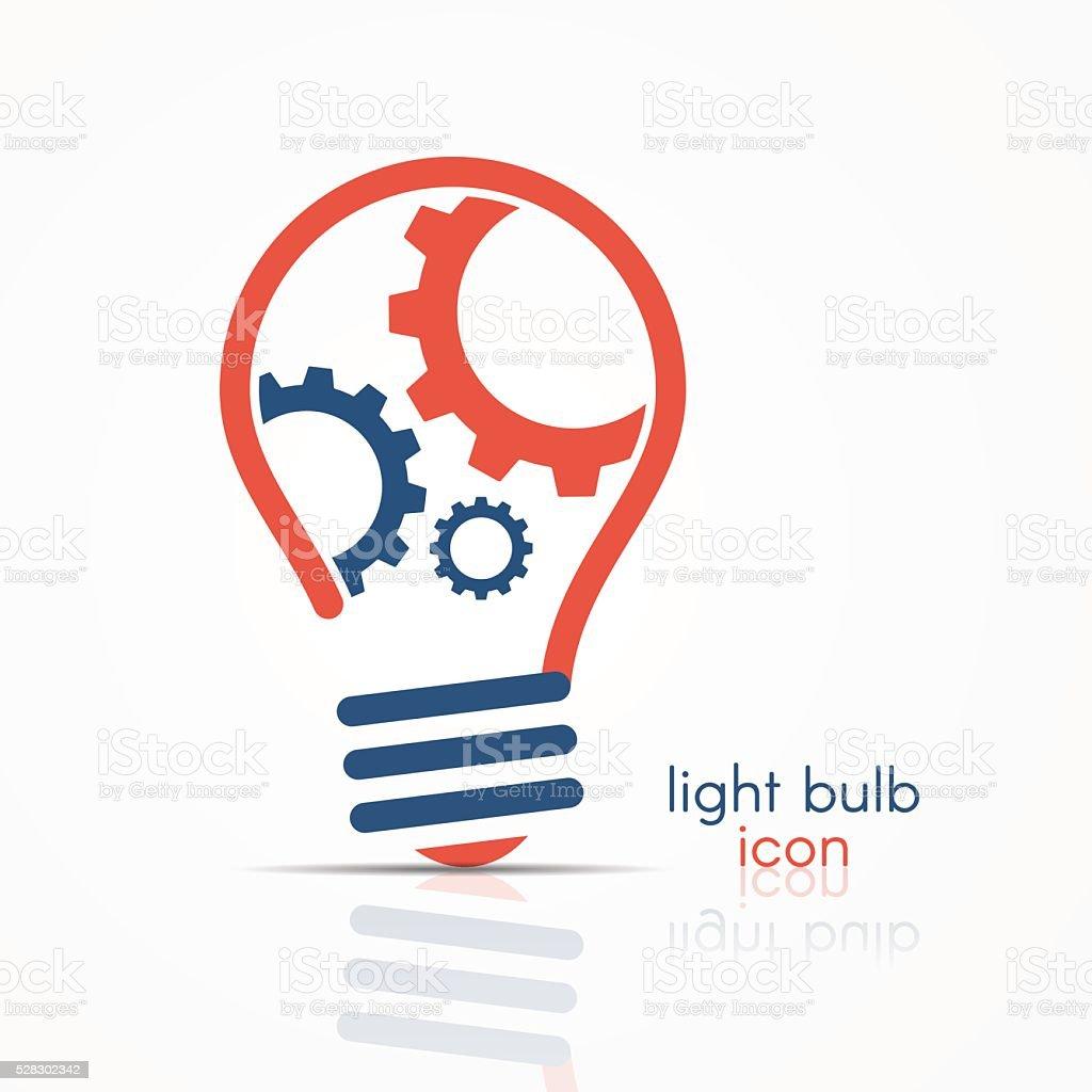 Light bulb idea icon, vector art illustration