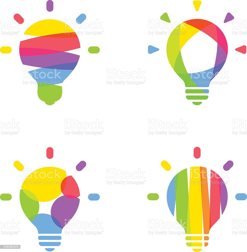 Light bulb, idea. vector art illustration