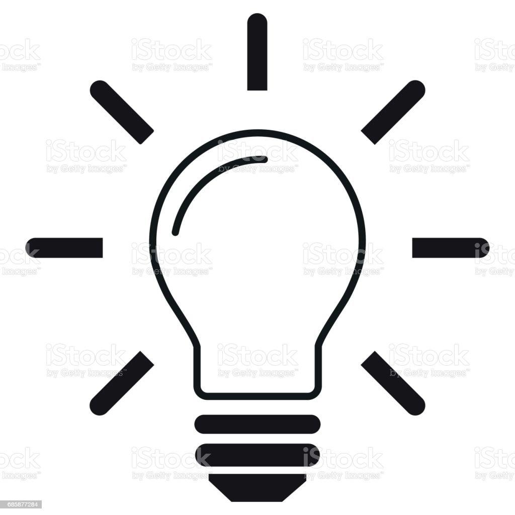 Line Art Light Bulb : Light bulb line icon vector isolated on white background