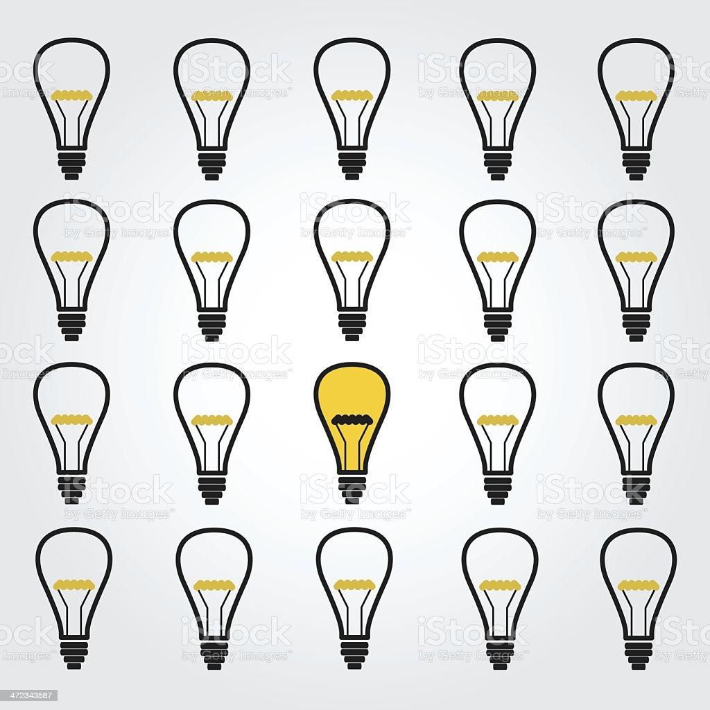 Light bulb pattern royalty-free stock vector art