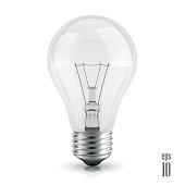 Light bulb realistic vector illustration